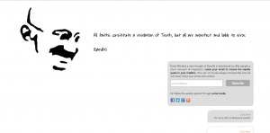Screenshot thoughtsofgandhi website